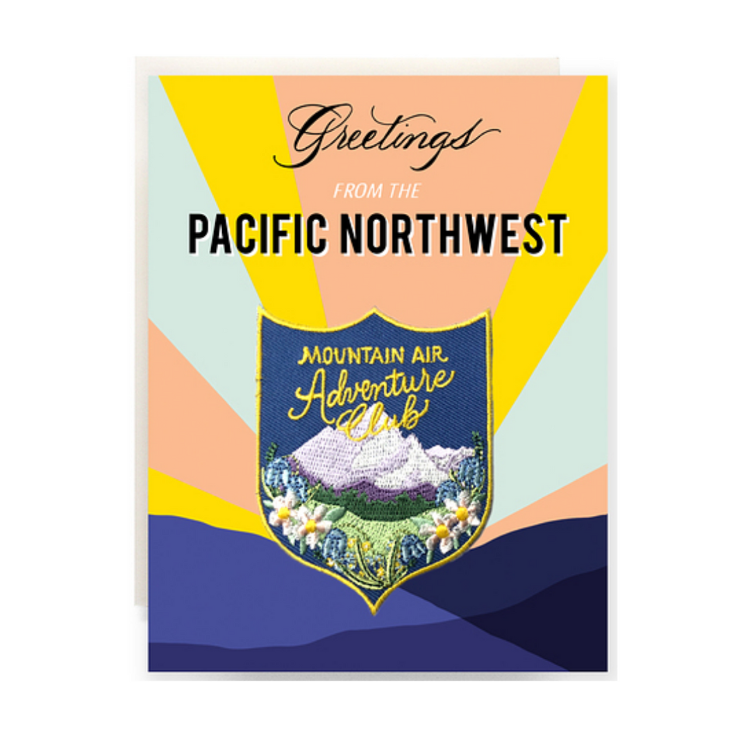 Greetings From The Pacific Northwest Patch Greeting Card