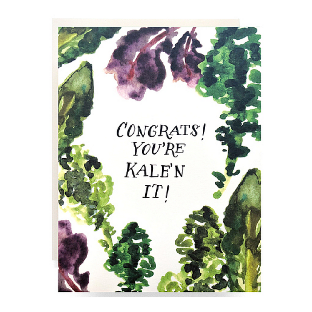 Kale'n it Greeting Card