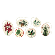 Load image into Gallery viewer, Christmas Botanica Glitter Gift Tags in Tin