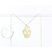 Load image into Gallery viewer, Crystal Cluster Necklace