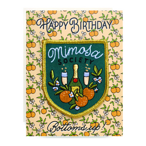 Mimosa Society Birthday Patch Greeting Card