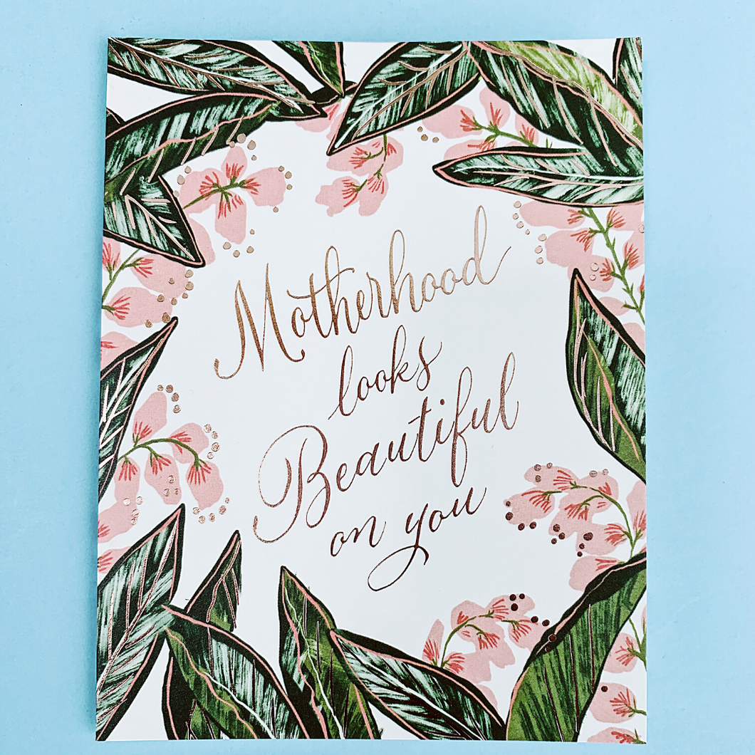 Motherhood Ginger Blossom Greeting Card