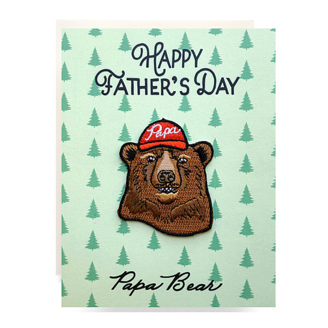 Papa Bear Father's Day Patch Greeting Card