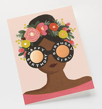 Load image into Gallery viewer, Flower Crown Birthday Girl Card