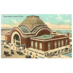 Found Image Postcard Union Depot
