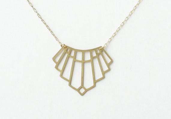 Art Deco Arch Necklace