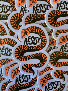 Resist Snake Sticker
