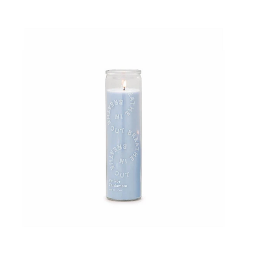Spark 10.6oz Sky Blue Breathe in, Breathe out Candle
