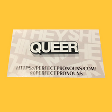 Load image into Gallery viewer, Queer Perfect Pronoun Pin