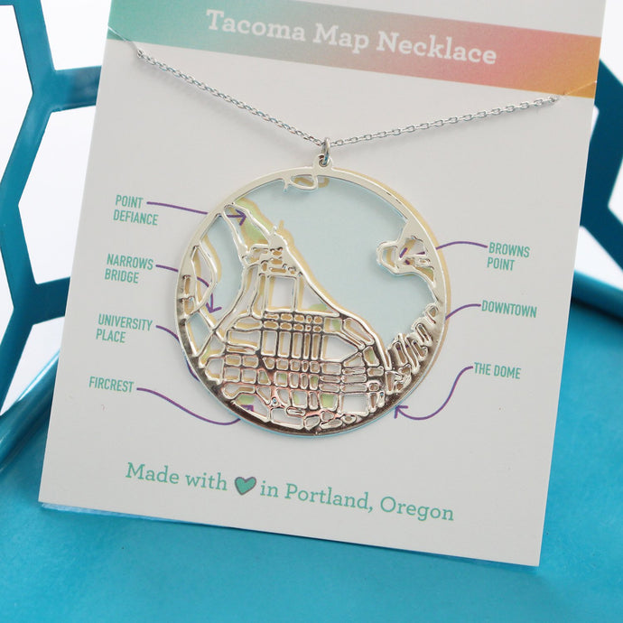 Silver Tacoma Necklace