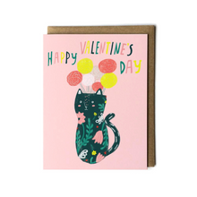 Load image into Gallery viewer, Kitty Flower Vase Card