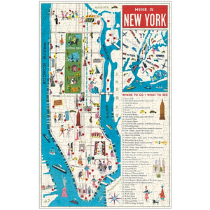 Cavallini & Co. NYC Map 500 Piece Puzzle