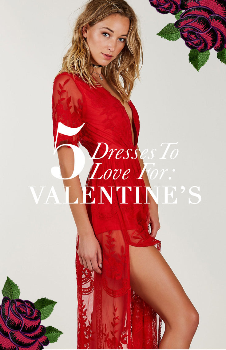 in time for Valentines! The top 5 red dresses you need!