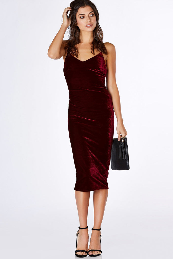 Velvet Crush Midi Dress