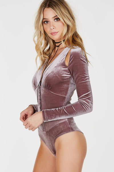 Velvet Trip Long Sleeve Bodysuit