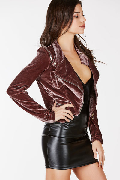 All Time Love Velvet Moto Jacket | Necessary Clothing