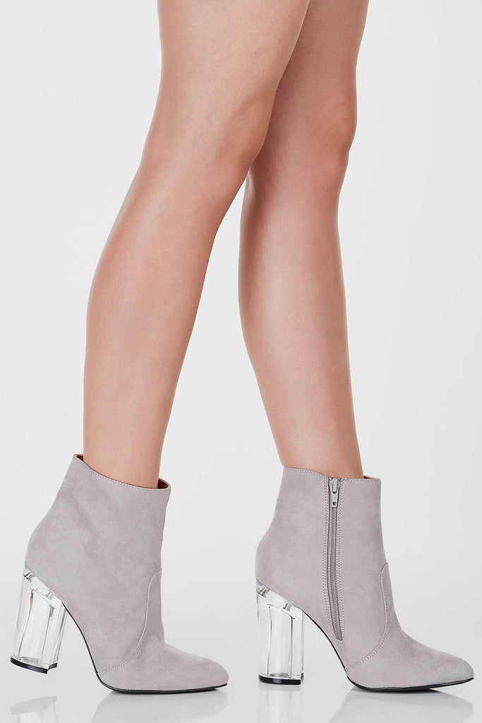 High Rank Suede Ankle Booties