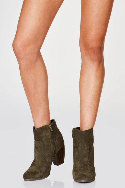 Go For It Suede Booties | Necessary Clothing