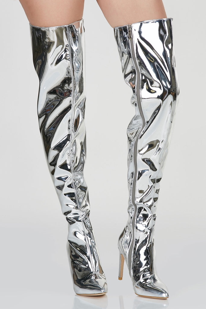 Silver Lining Thigh High Boots