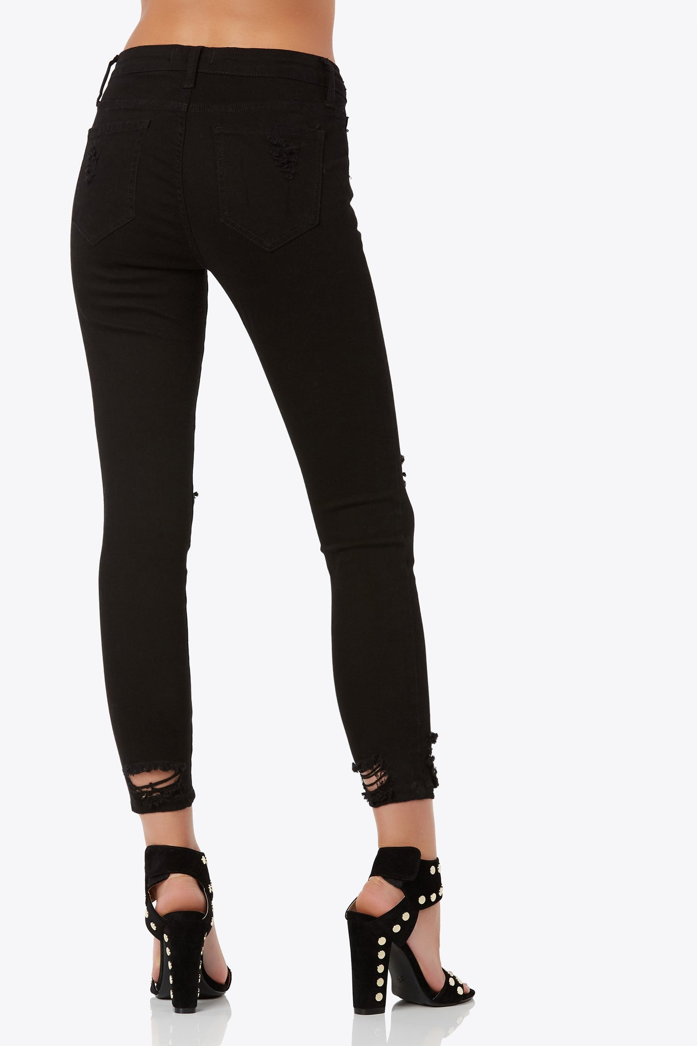 Black Magic Distressed Skinnies