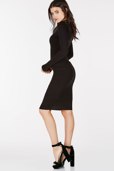 Zana High Neck Midi Dress