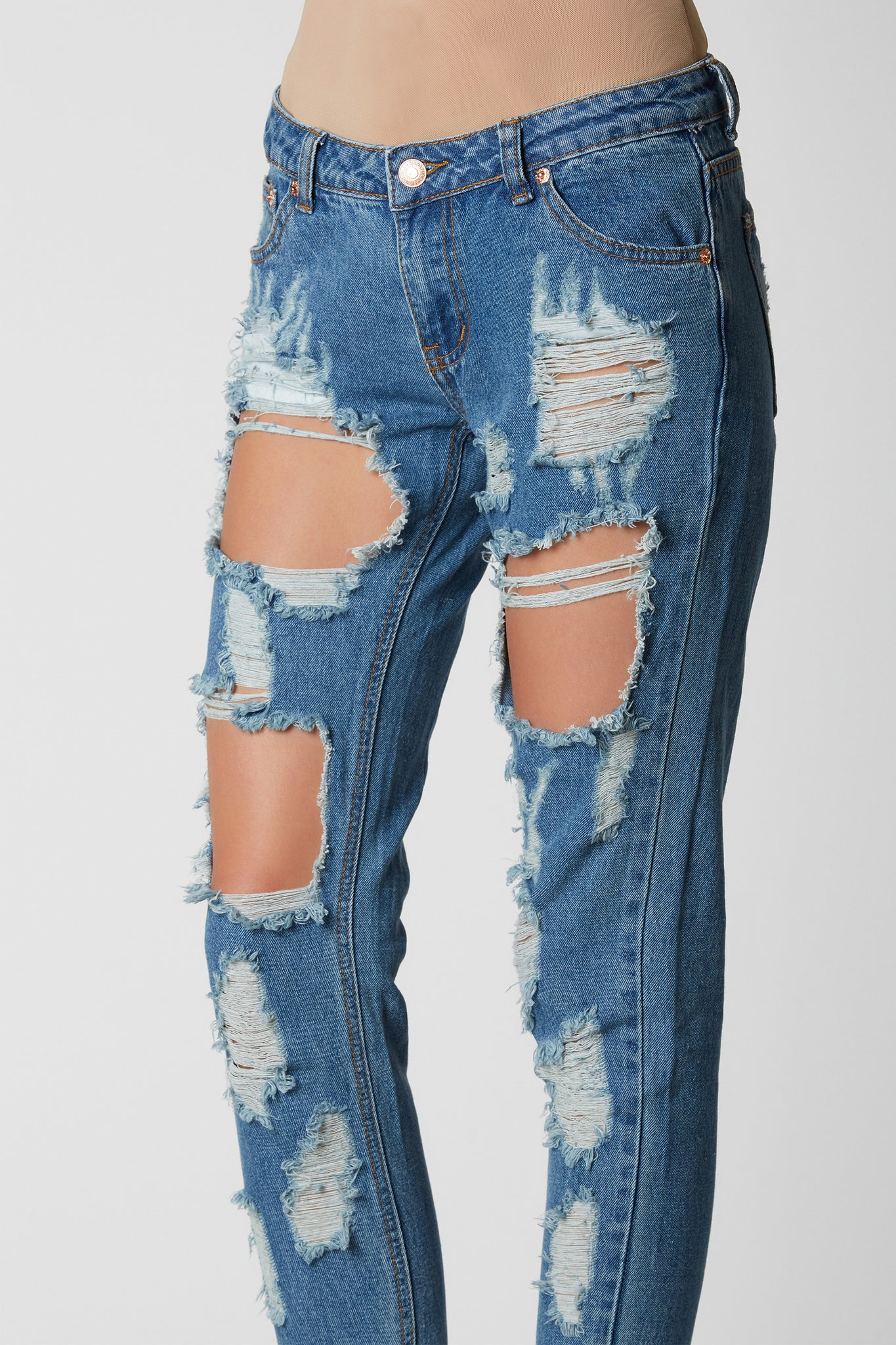 Rock N' Roll Distressed Jeans