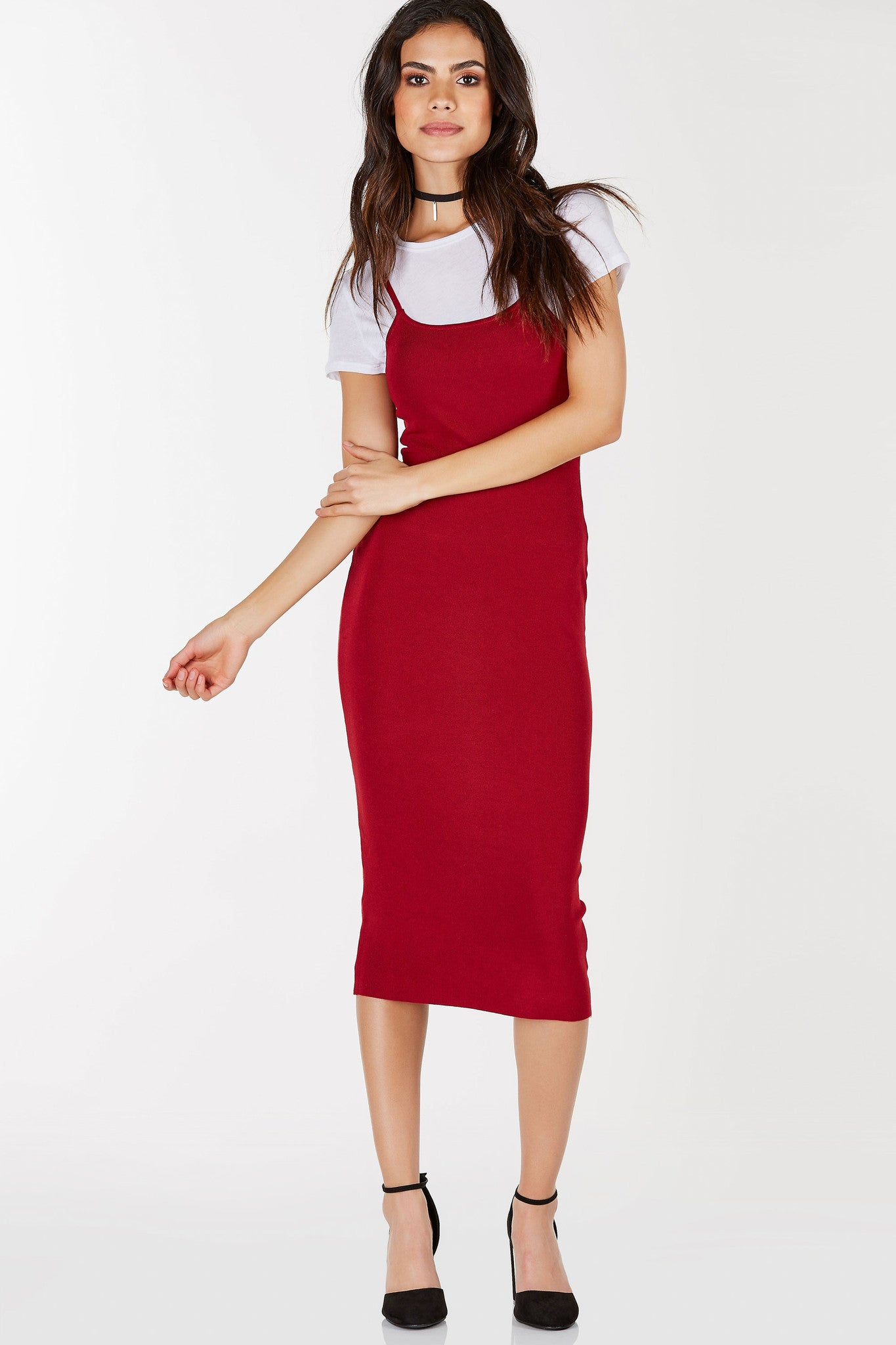 Keep it simple and sexy in the Cami Midi Dress that features adjustable thin straps. Feelin' sexy? Pair with some sexy stilettos or sneakers for a sporty casual look.