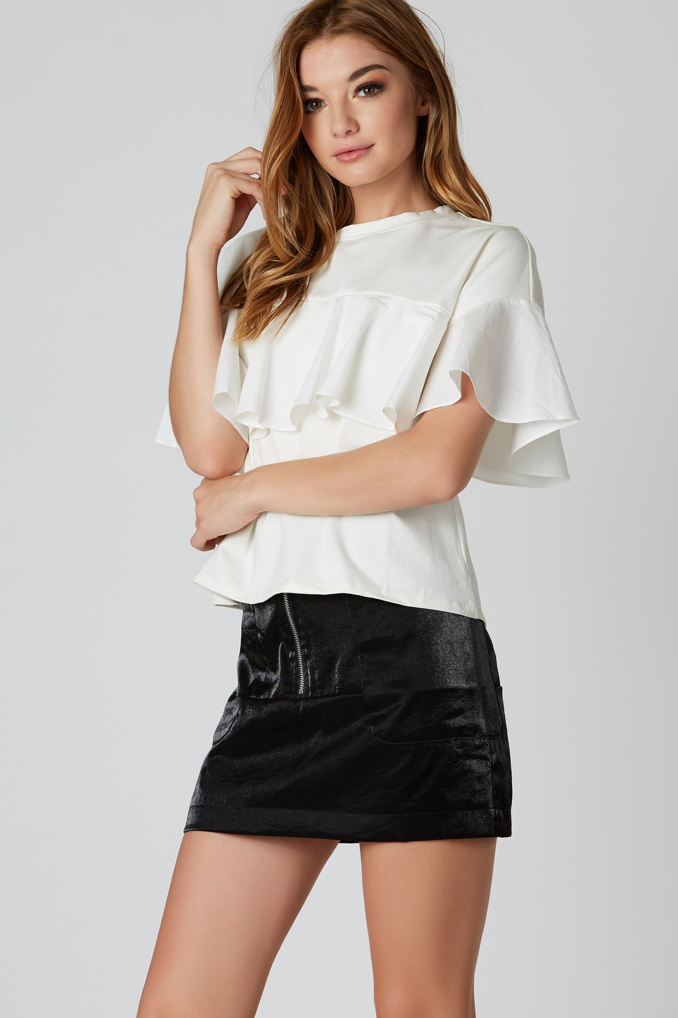Outside The Box Ruffled Top