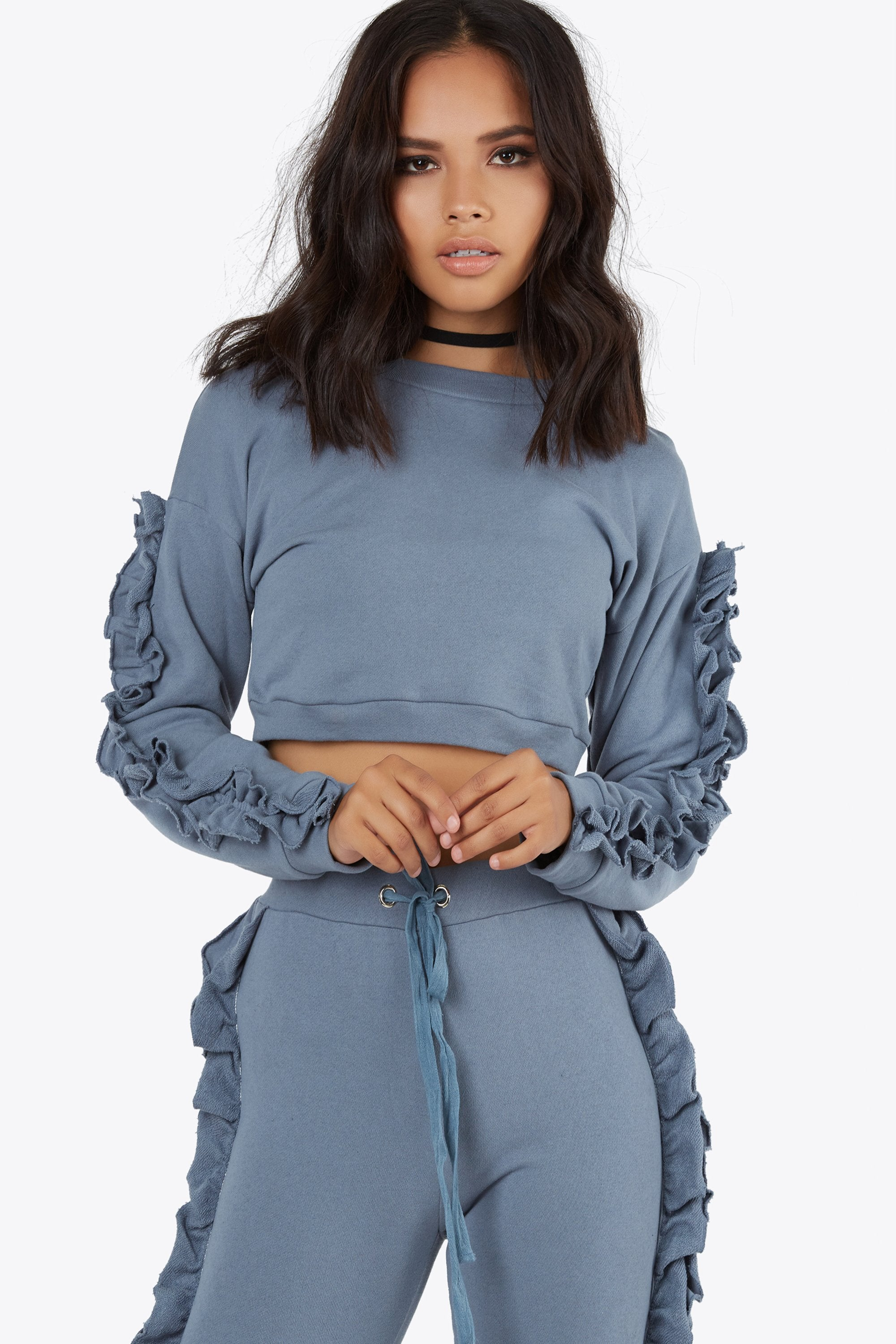 Ruffle Lounge Top