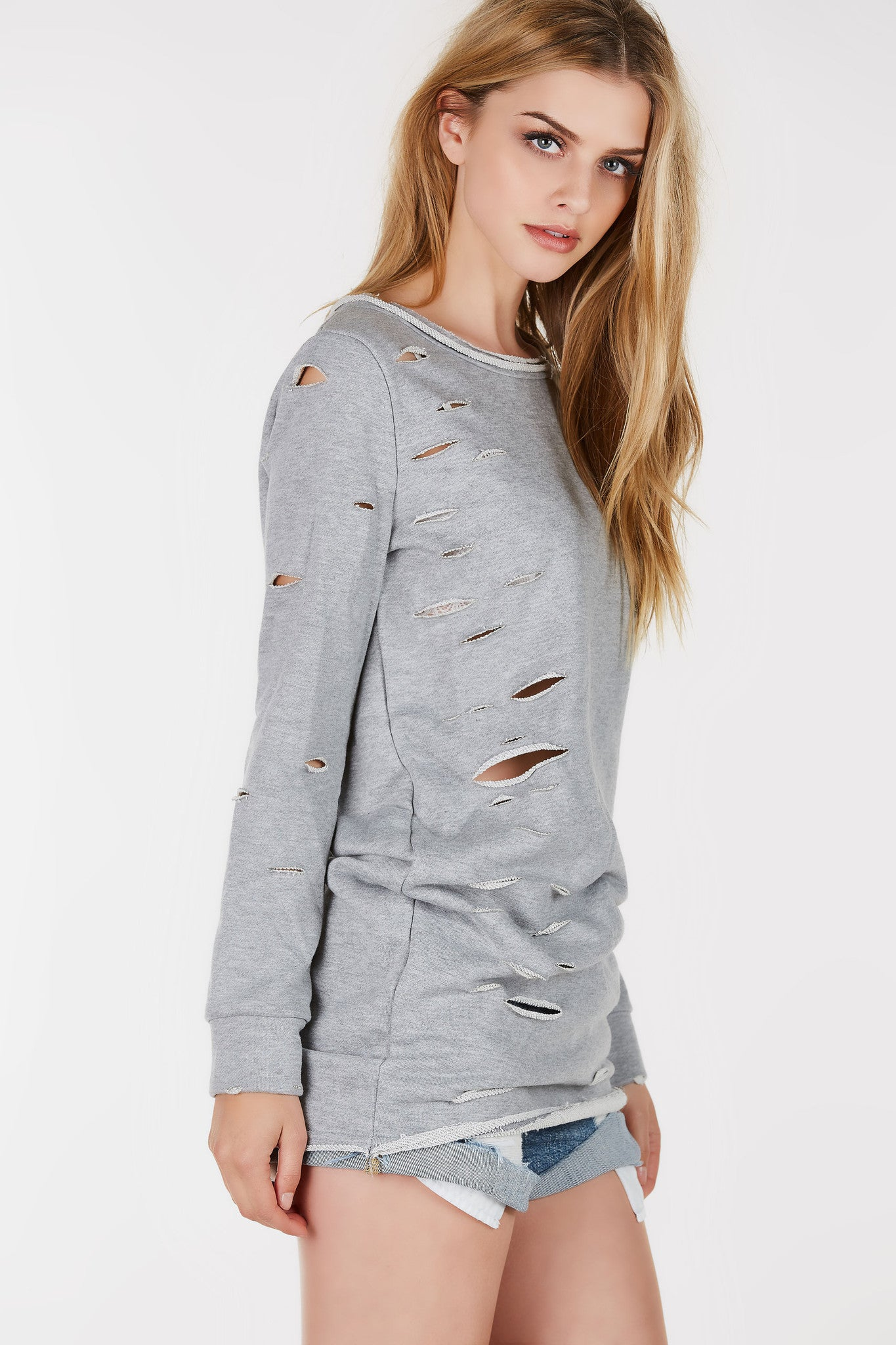 Out Of Control Distressed Tunic Dress