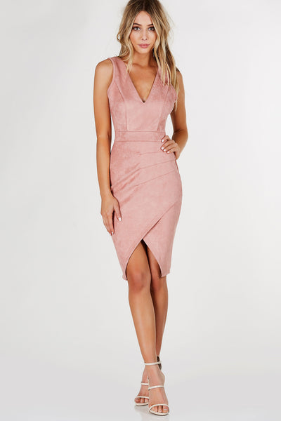 Nice List Suede Midi Dress
