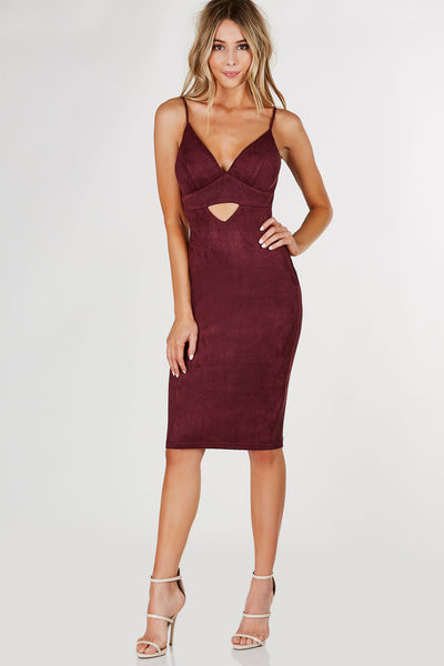 Hottie List Suede Midi Dress