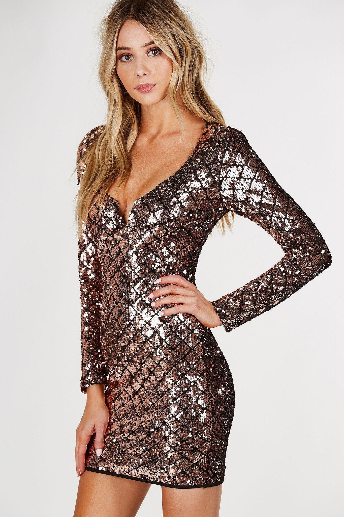 Sparks Fly Sequin Mini Dress