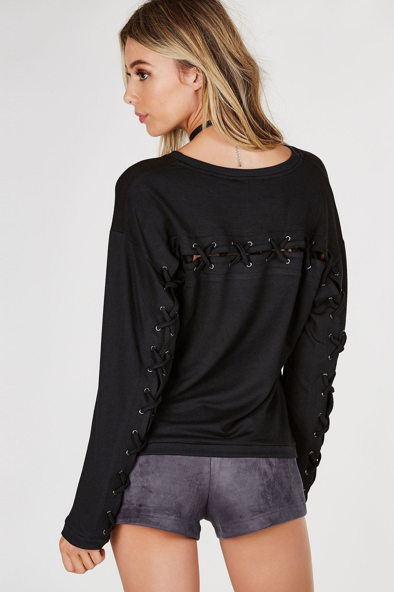 Turn Around Lace Back Top