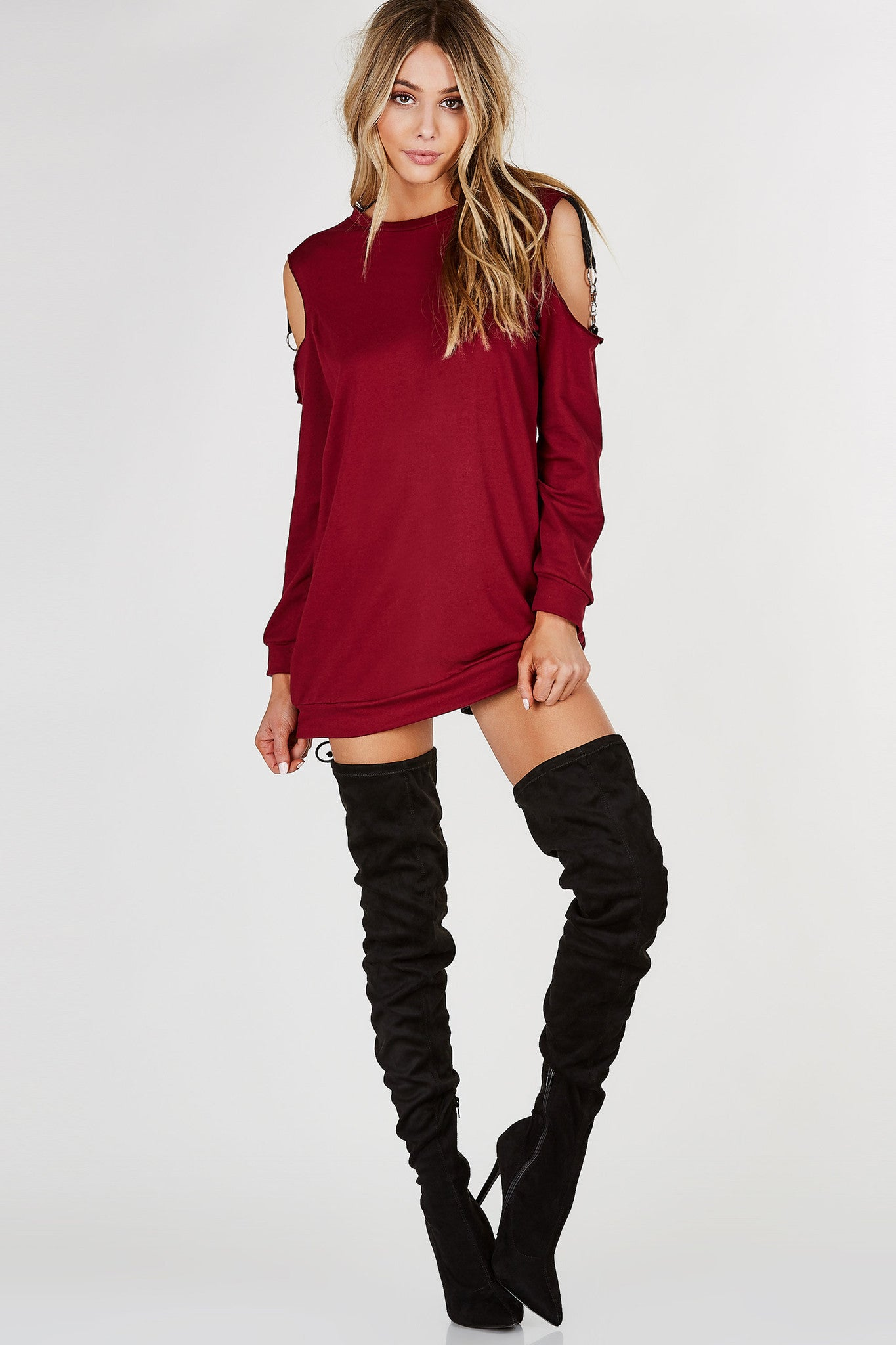 Hooked On Cold Shoulder Tunic