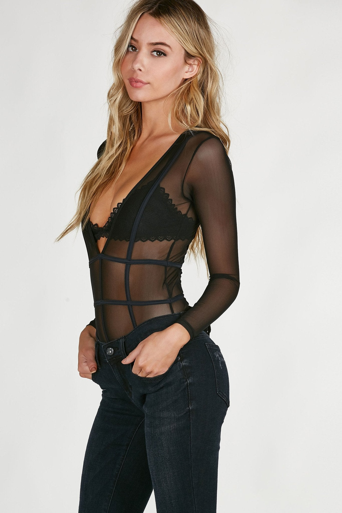What You Want Mesh Bodysuit