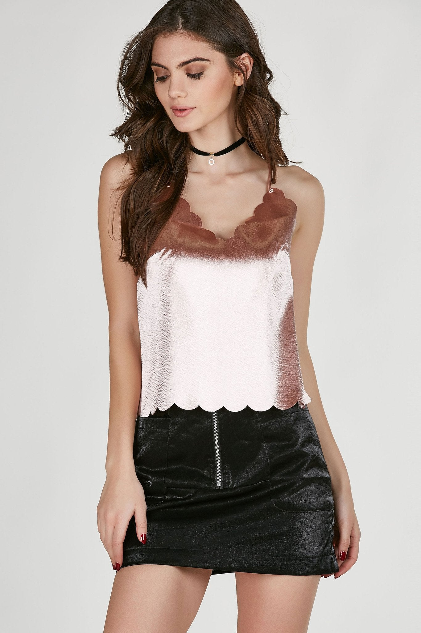 Story Teller Scallop Trim Cami