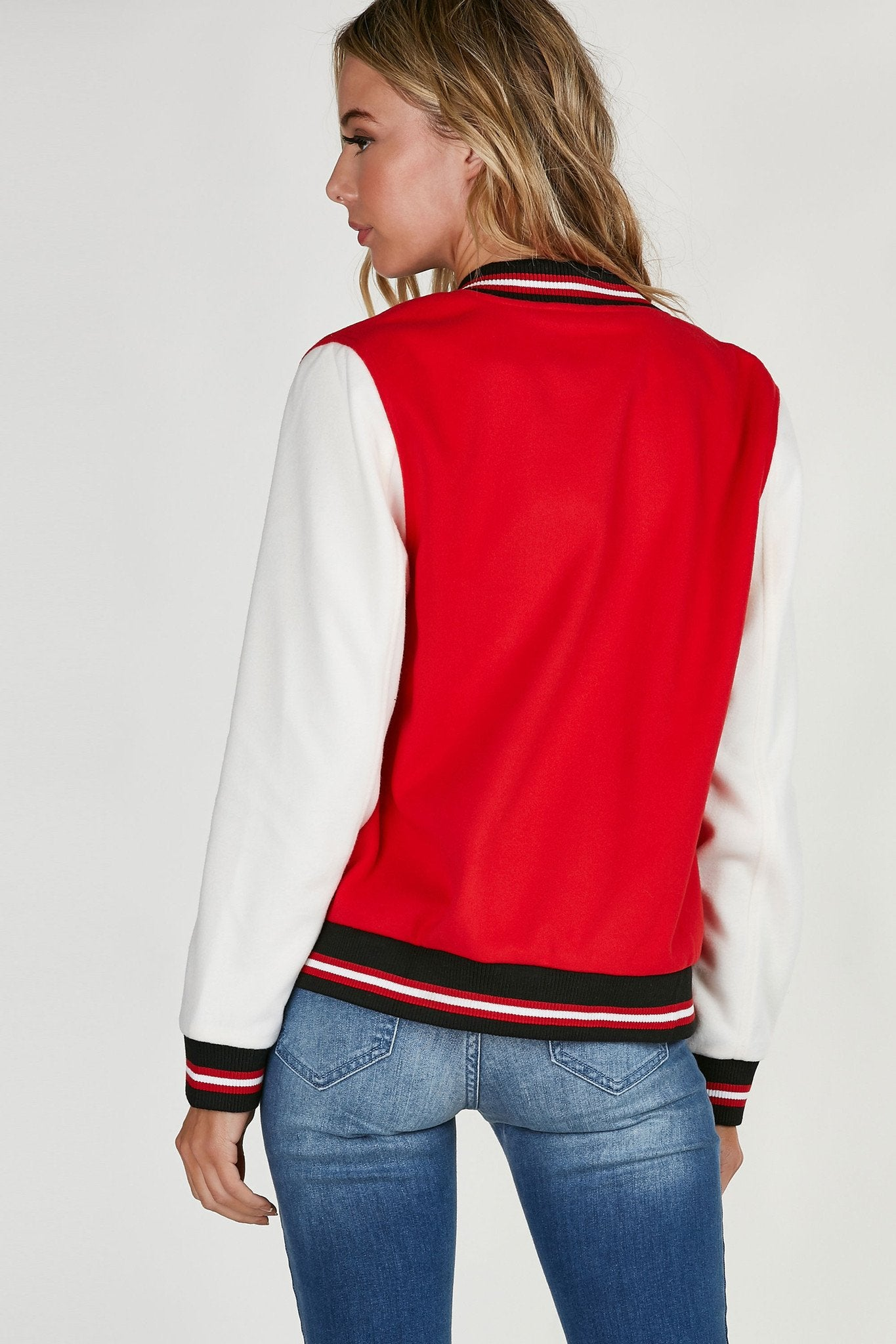 Tomboy Patched Varsity Jacket