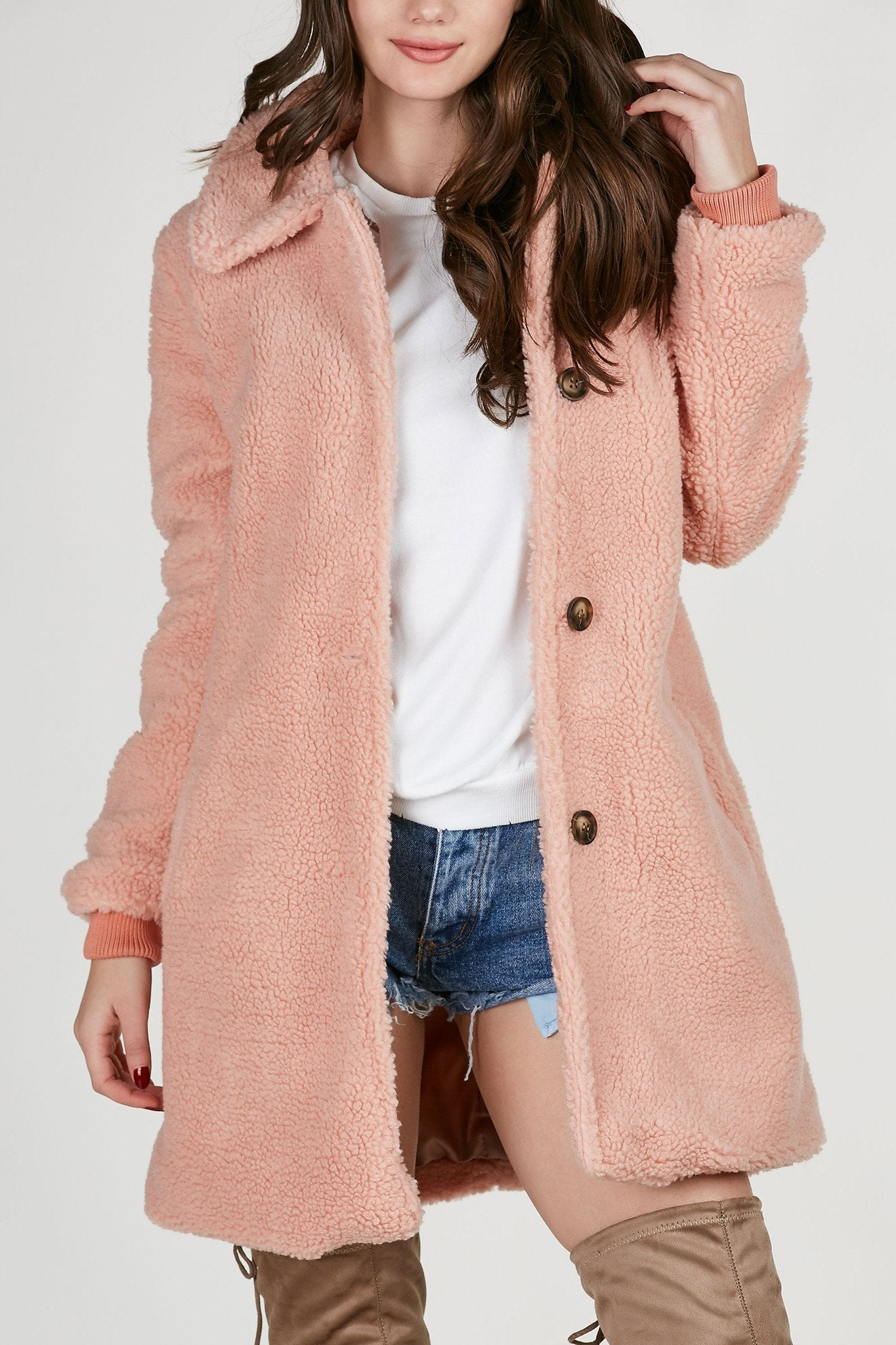 Snow Bunny Faux Shearling Coat