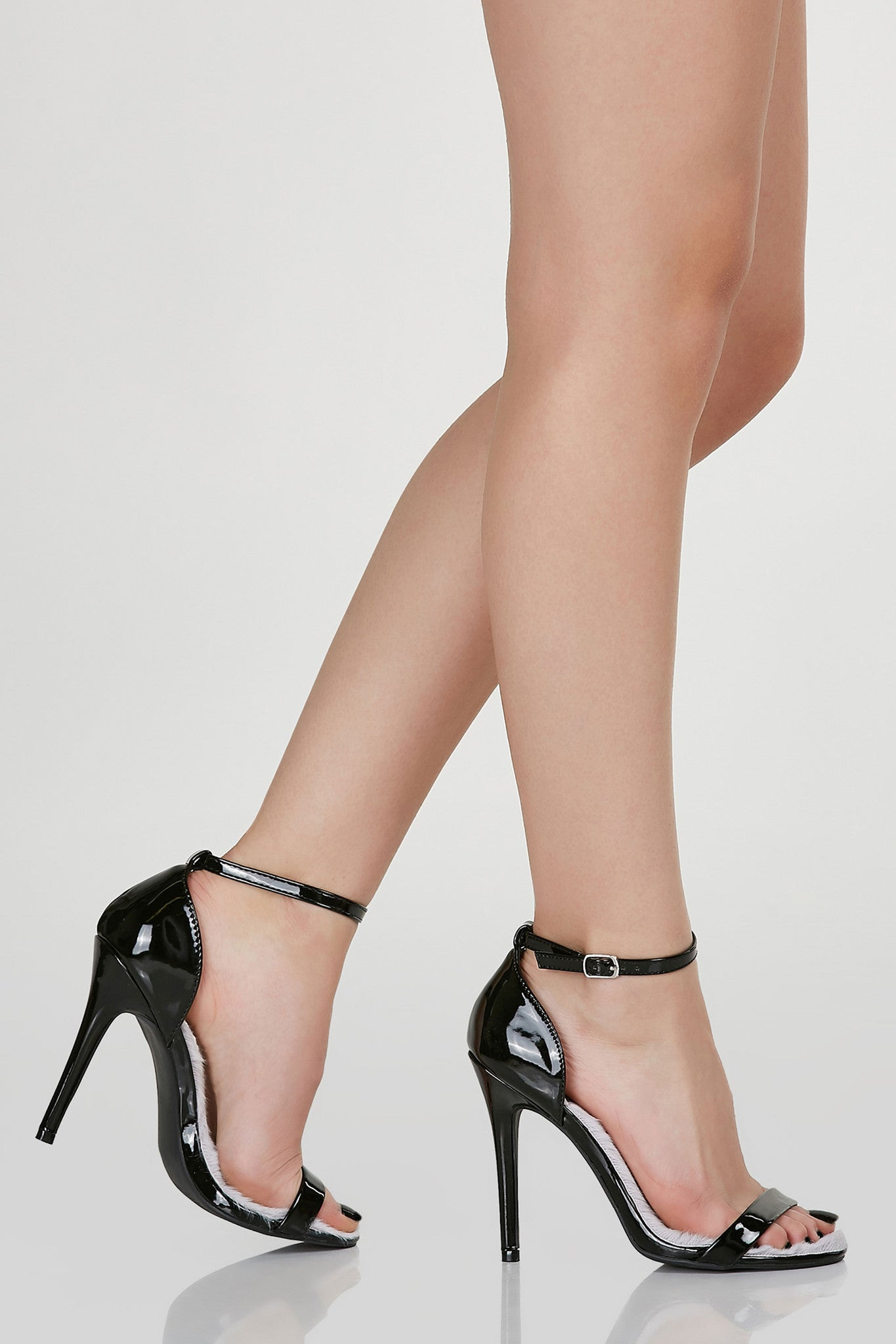 Faux Fun Ankle Strap Pumps