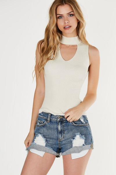 Thought Out Ribbed Knit Top