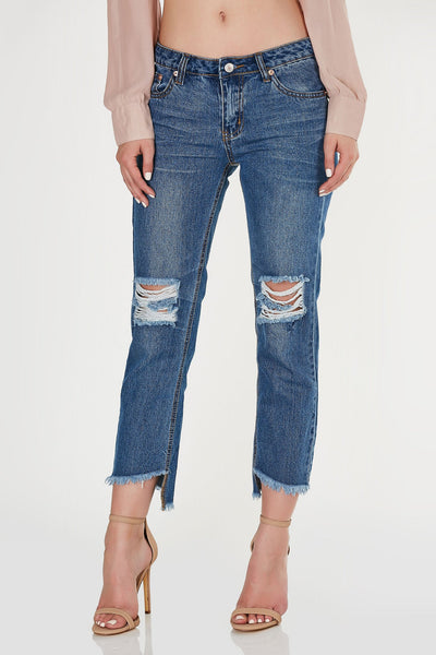 The Blues Frayed Girlfriend Jeans