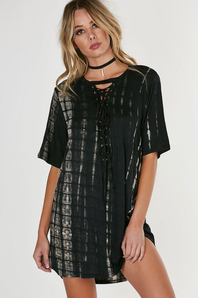 Swim Deep Lace Up Dress