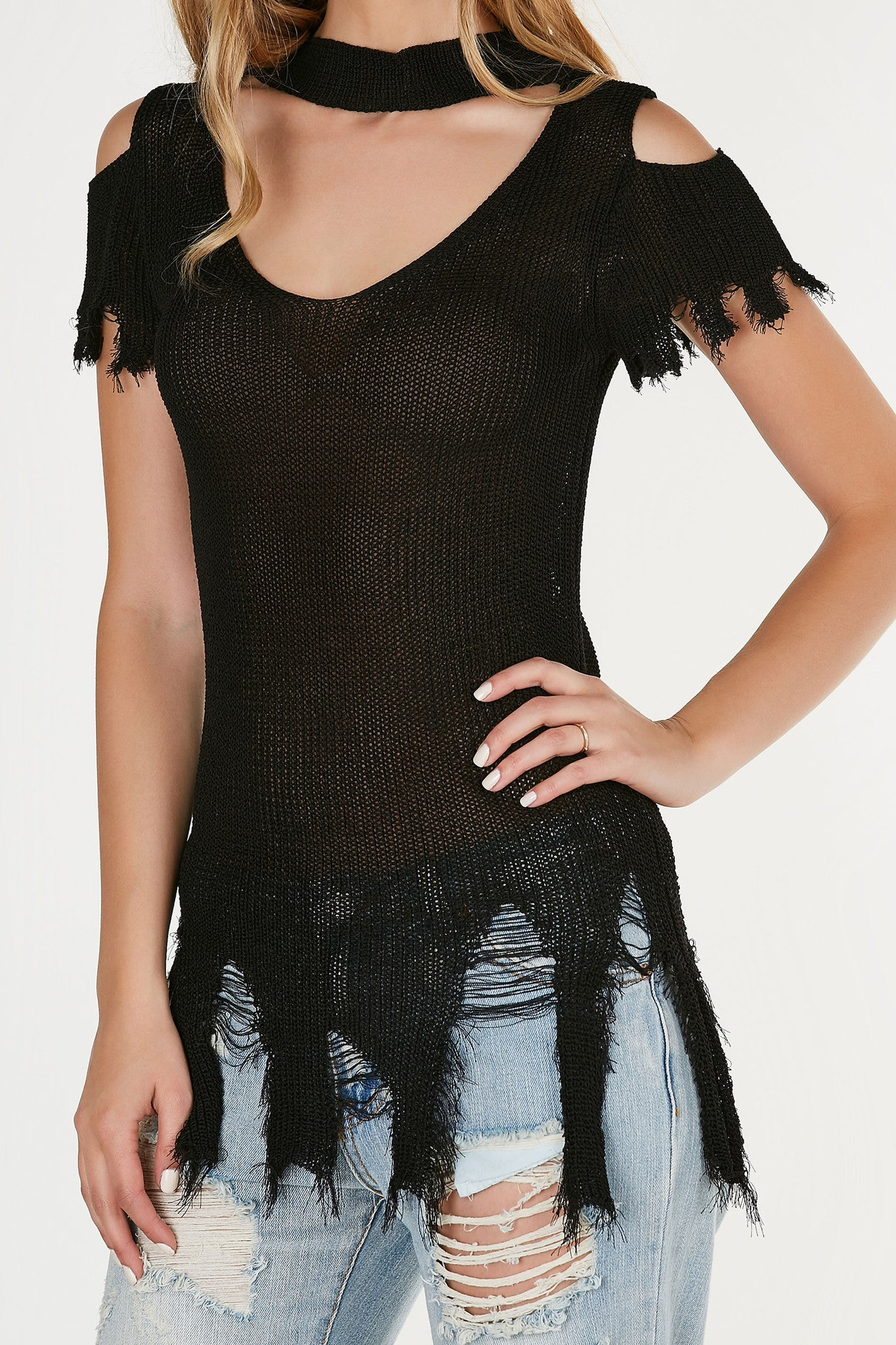 Knitty Gritty Distressed Top
