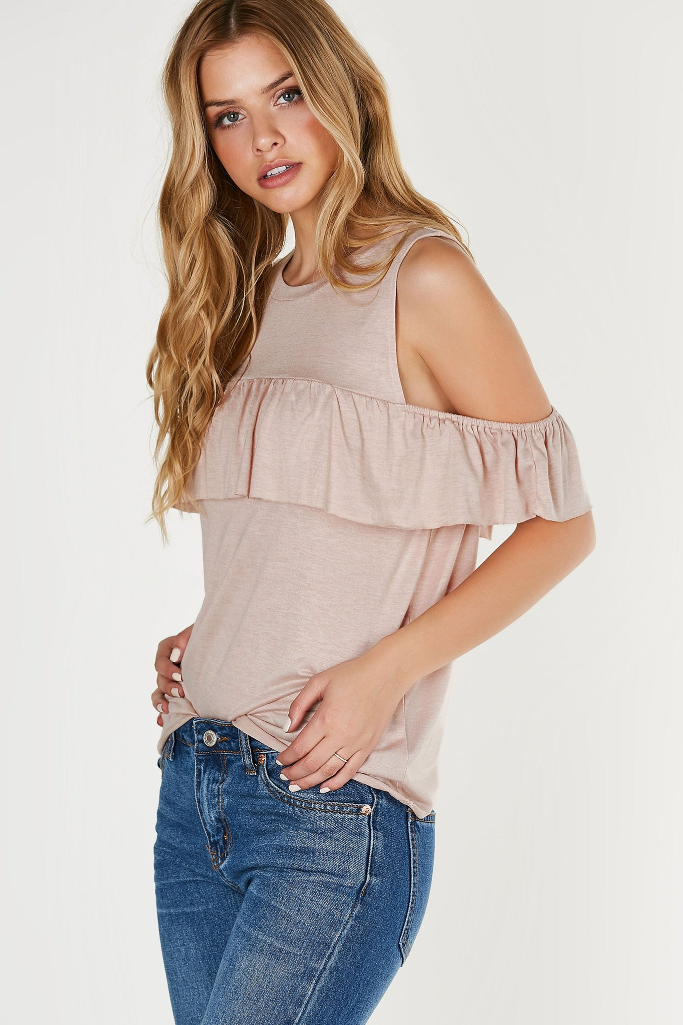Lost With You Cold Shoulder Top