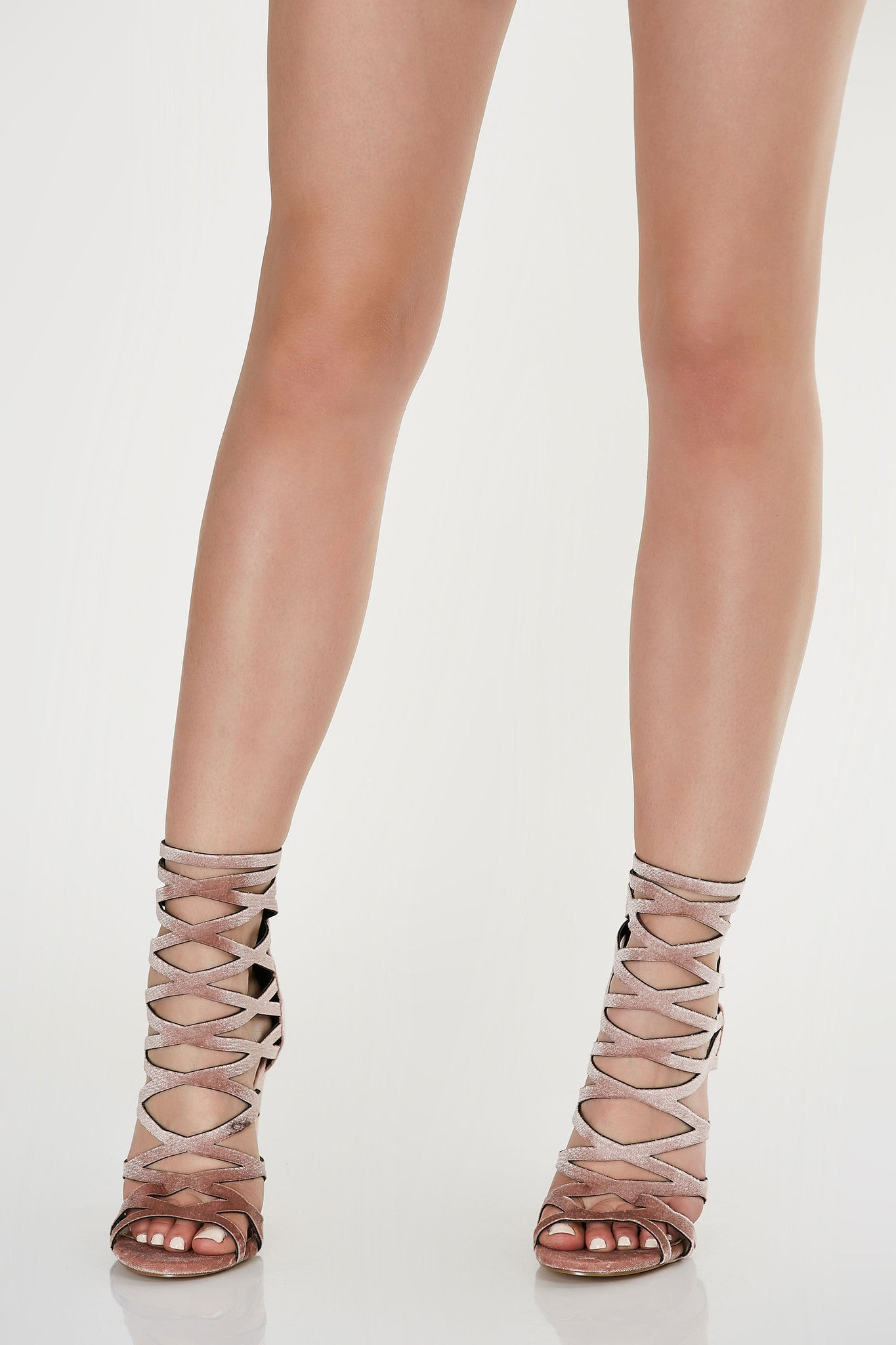 Game On Caged Block Heels