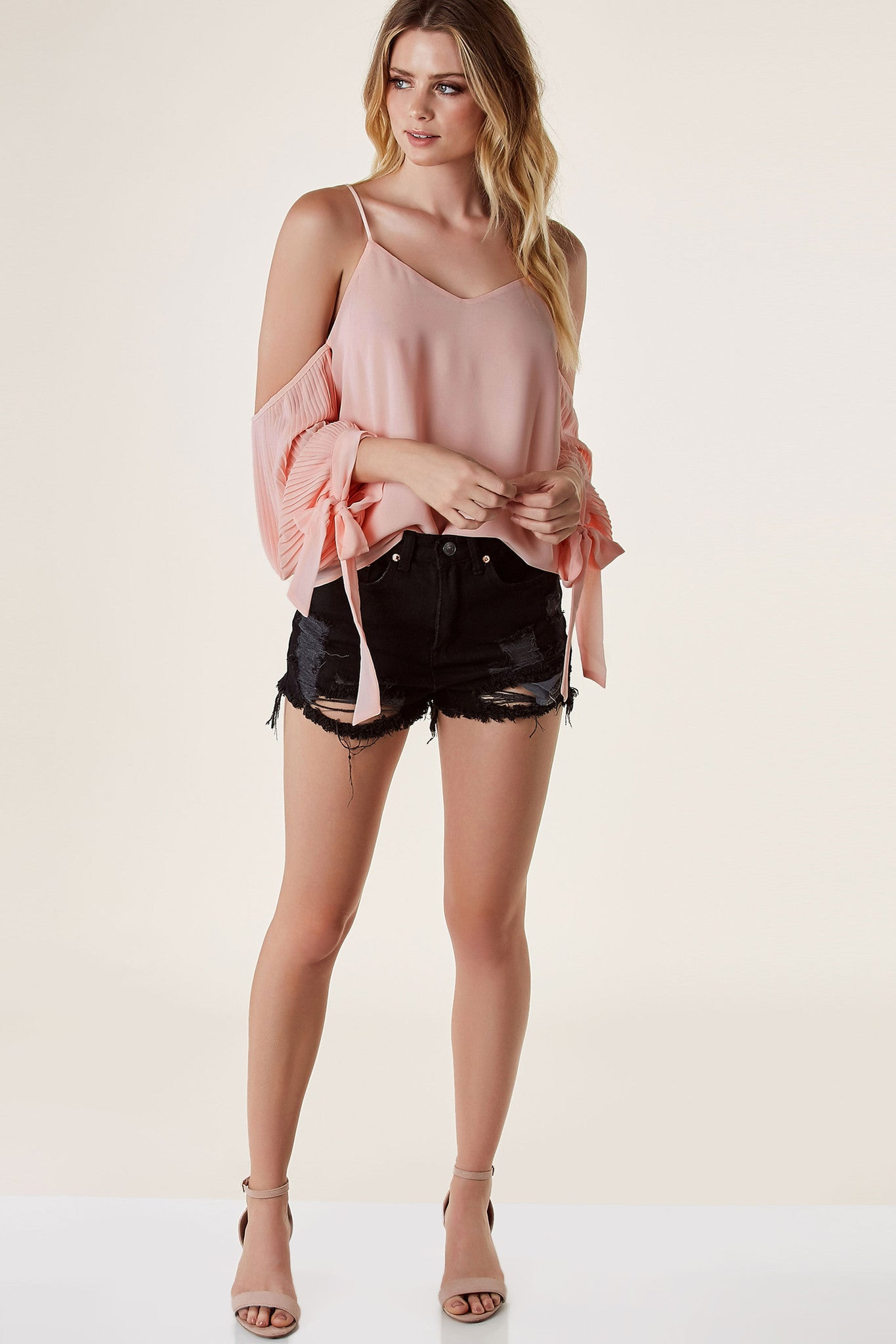 Pleaty Please Cold Shoulder Top