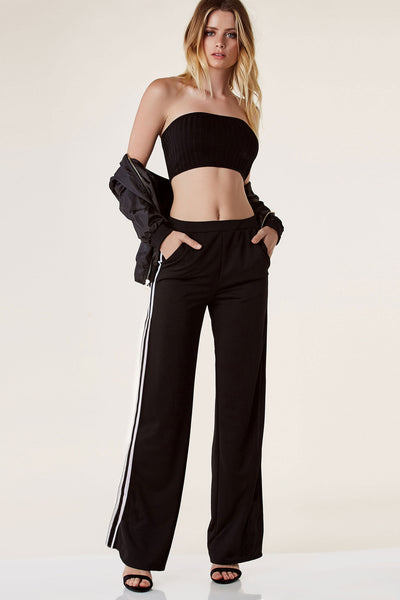 Sporty Spice Slit Track Pants