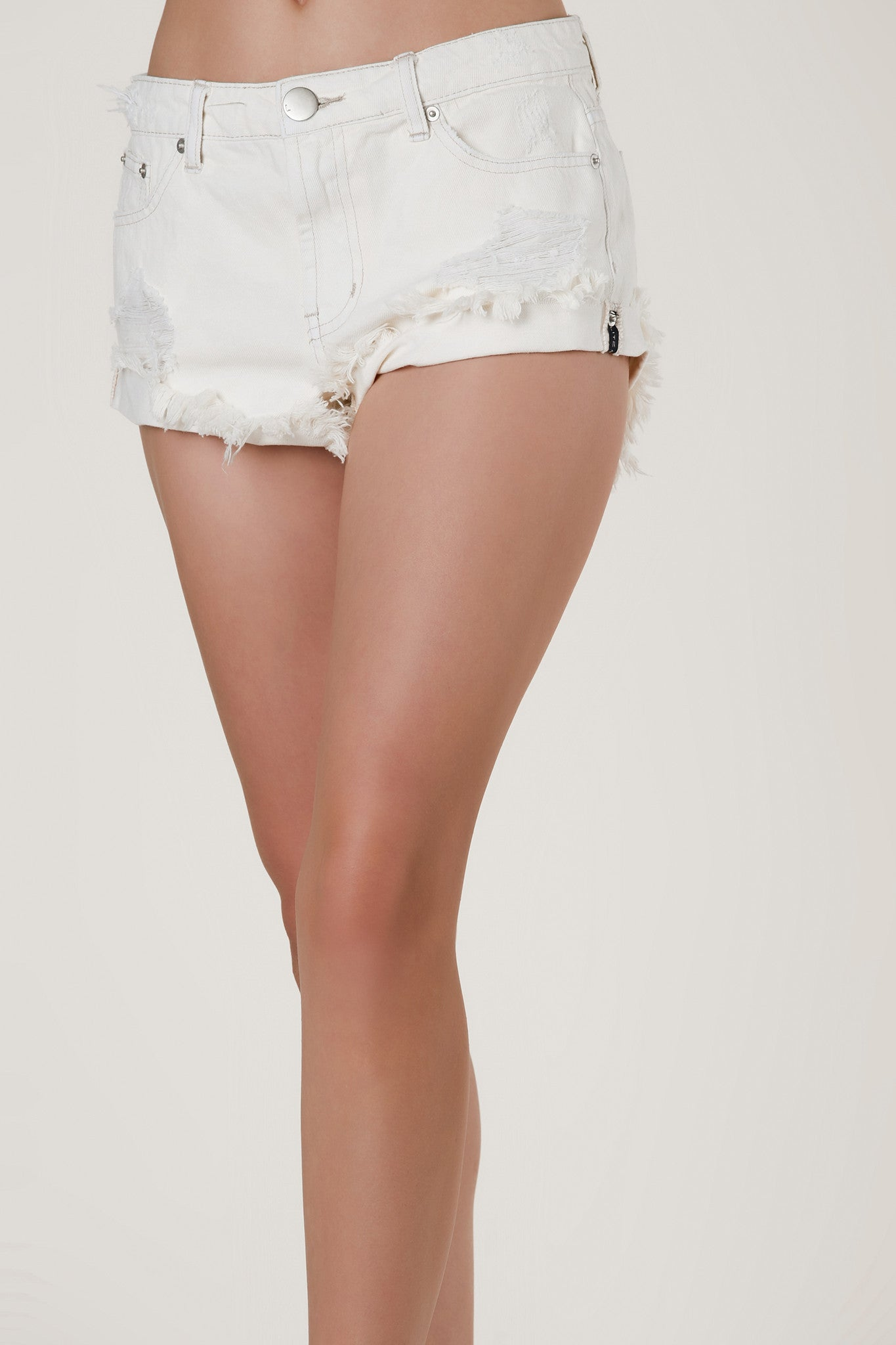 Beach Bum Distressed Denim Shorts