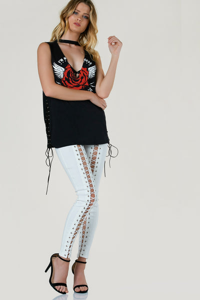 Highway Lace Up Pants